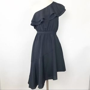 Likely NWT Cocktail Dress Black Asymmetrical 0